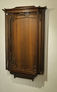 walnut display-case without silk
