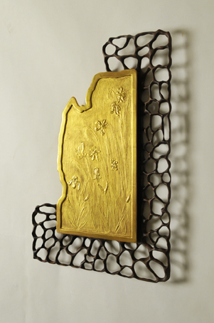gold-iris-and-walnut-frame