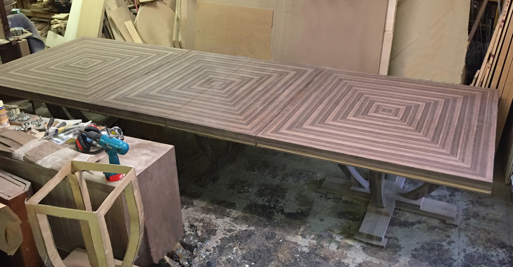 Unfinished Efron Dining Table
