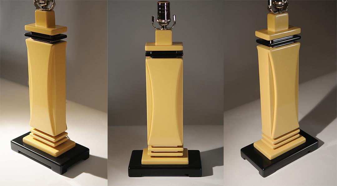 Yellow Art Deco Lamp