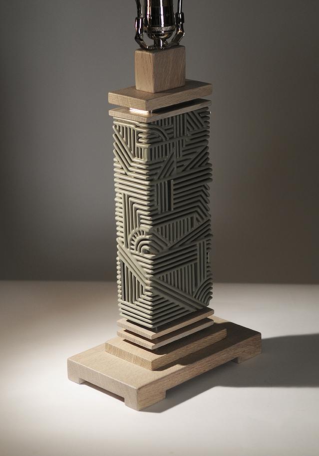 Finished portrait of Khaki Industrial Lamp